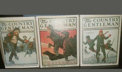 $ CDN49.97 • Buy LOT OF 3 -Norman Rockwell The Country Gentleman Figurines Collection