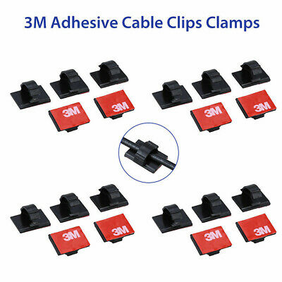 AU3.14 • Buy 20pcs Lot For Car Dash Camera 3M Self-Adhesive Wire Tie Cable Clamp Clip Holder