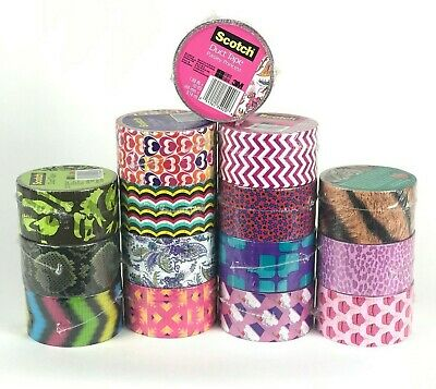 $6.49 • Buy Scotch Duct Tape 1.88  X 10 Yards Various Colors And Designs Brand New Sale