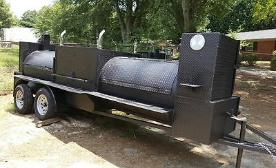 $8499 • Buy Pro T Rex BBQ Smoker Cooker 48 Grill Trailer Mobile Food Truck Business Catering