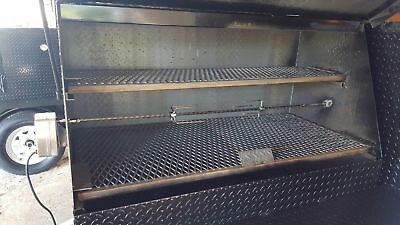 $3799 • Buy Rotisserie Mobile BBQ Smoker Grill Trailer Food Truck Concession Business Cooker