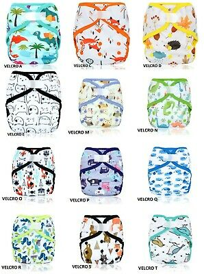 AU9.50 • Buy 1 X Happy Flute Double Gussets  Baby One Size Cloth Nappy Cover Wrap Waterproof