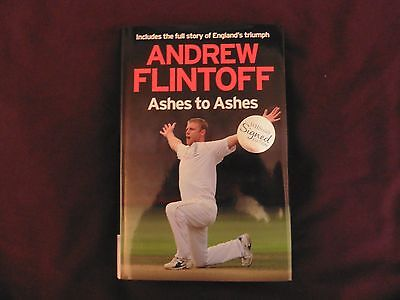 ANDREW FLINTOFF - Ashes To Ashes SIGNED - 2009 - *BRAND NEW* • 50£