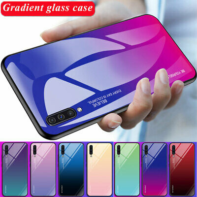 AU3.86 • Buy Gradient Tempered Glass Hard Case Cover For Samsung Galaxy A7 A50 A30 A6 A8 2018