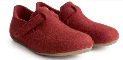 Haflinger Slippers Shoes Unisex Focus Rubin 481056 Felt Boiled Wool Red Fon • 61.29£