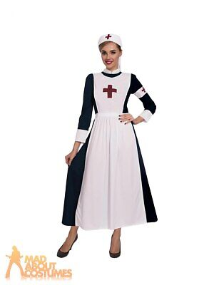 Adult Ladies WW1 Great War Nurse Costume Midwife Nightingale Uniform Fancy Dress • 16.49£