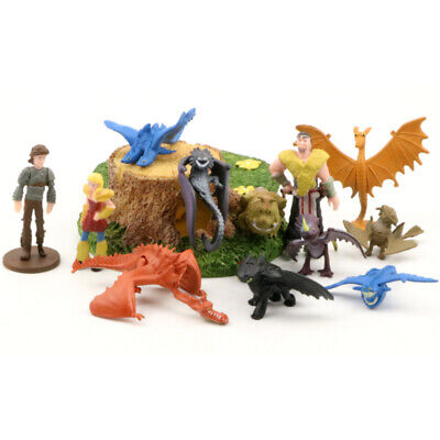 12pcs/set How To Train Your Dragon Figure Hiccup Toothless Night Fury Nadder Toy • 7.99£