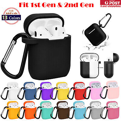AU5.89 • Buy For Apple Airpods 1 & 2 Shockproof Silicon Slim Skin Charging Case Rubber Cover