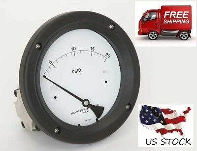 $39.99 • Buy Pressure Gauge, 0 To 20 Psi,  MIDWEST INSTRUMENT, 142-AC-00-OO-20P,  Brand New