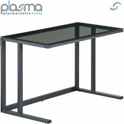 £114.50 • Buy Alphason Air Black Framed And Smoked Glass Desk