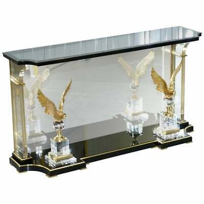 $2274.56 • Buy Lovely Rare Vintage Lucite Console Table With Bronzed Eagles Highly Decorative