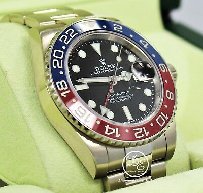 $ CDN46779.66 • Buy Rolex GMT Master II PEPSI 116719 BLRO Ceramic Bezel 18K White Gold Box Papers