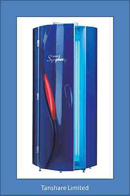Tansun Stand Up Sunbed Vertical Tanning Symphony NEW Lamps 180w/250 • 2,700£