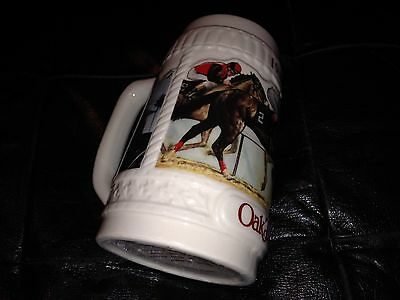 $ CDN2.48 • Buy 1987 OAKTREE's  COLLECTOR  STEIN  NICE RACING HORSES   FROM ESTATE GREAT GO SEE