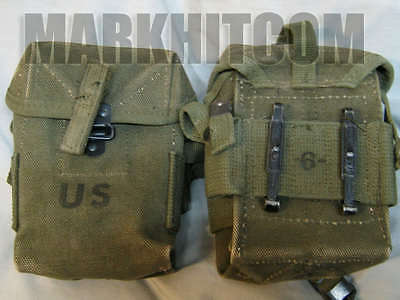 $38.55 • Buy VIETNAM US M1956 M56 Small Universal Canvas 2nd Pattern Long Pouch Date 1968