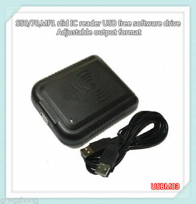 MF1 Mifare1 S50/70 IC Free Software Drive Adjustable Output Format USB Reader • 21.24£