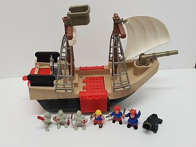 £14 • Buy Early Learning Centre Pirate Galleon Ship Playset With Figure & Accessories Rare