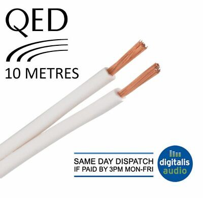 $ CDN34.46 • Buy 10m Of QED 79 Strand White Oxygen Free Copper (OFC) HiFi Speaker Cable