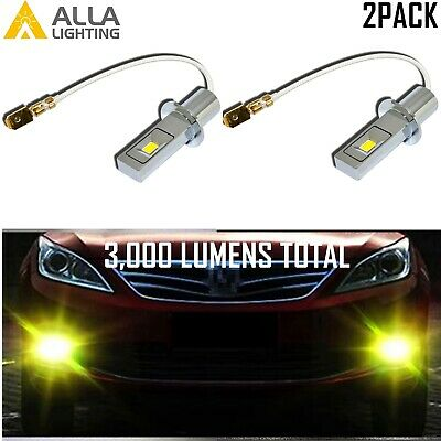 $29.99 • Buy Alla Lighting LED H3 Fog Light Bulb Plug And Play Replacement,Golden Yellow Lamp