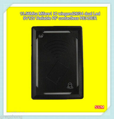 13.56Mhz Mifare1 S50 Waterproof RFID WG26/34 Dual Led Access Control Card READER • 18.20£