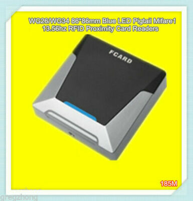 86*86mm Waterproof 13.56Mhz Mifare1 RFID WG26 Access Control KO Box Card Reader • 18.96£