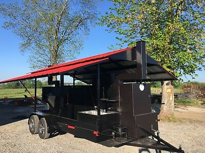$16999 • Buy T Rex With Sink Roof BBQ Smoker Cooker Grill Trailer Mobile Food Truck Business