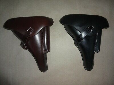 Leather Holster For WW2 German P08 Black & Brown Color (Set Of 2) - Repro K174 • 47.19£