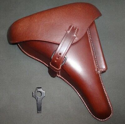 Leather Holster For WW2 P08 Brown W/Take Down Tool (Reproduction) B417 • 31.19£