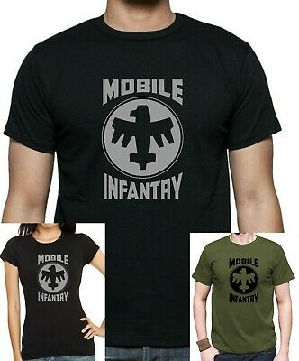 STARSHIP TROOPERS : MOBILE INFANTRY T-Shirt. Unisex/Fitted Tee Printed Cotton • 11.99£