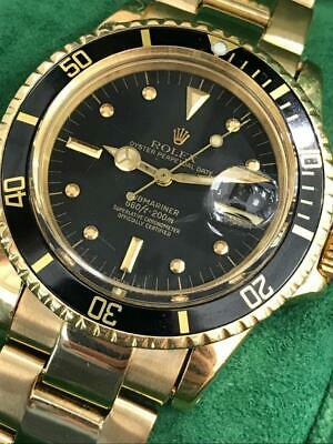 $ CDN54306.62 • Buy Vintage Rolex Submariner 1680 Matte Nipple Dial  2 Mil 18K Yellow Gold Rare 1967