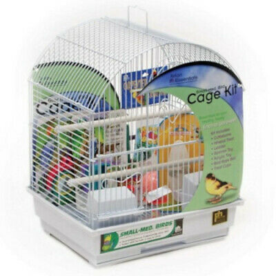 $67.99 • Buy Round Roof Bird Cage Starter Kit 16 H With Perches, Cups, Assorted Toys