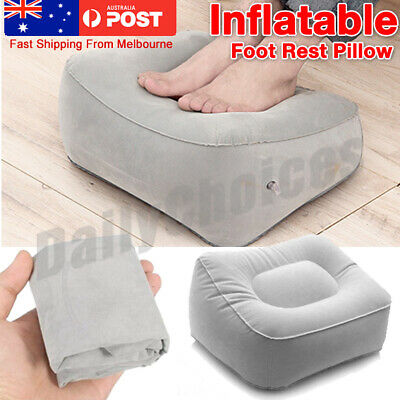AU15.37 • Buy AU Inflatable Foot Rest Travel Air Pillow Cushion Office Leg Up Footrest Relax