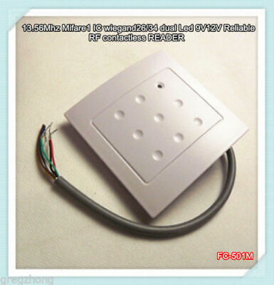 WG 86*86mm Waterproof 13.56Mhz Mifare1K RFID Access Control KO Box Card Reader • 11.39£