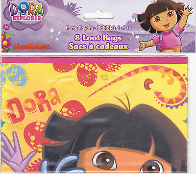 Party Bags DORA THE EXPLORER Candy Treat Favors Birthday 8 Pk • 2.12£