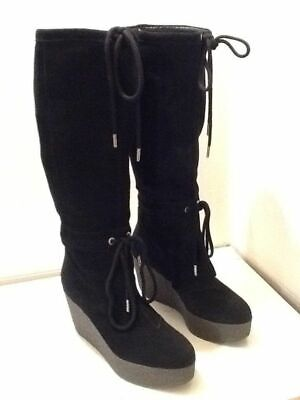 ROCKPORT ADIPRENE BY ADIDAS WOMEN'S SUEDE LEATHER WEDGE KNEE HIGH BOOTS Uk 3 • 55£