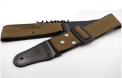 $ CDN8.90 • Buy Coffee Leather Ends Adjustable Guitar Strap For Electric Acoustic Guitar Bass