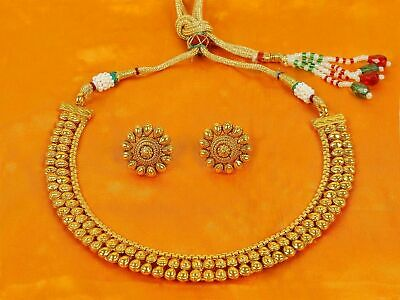 Indian Necklace Bollywood Style Fashion Gold Plated Wedding Bridal Women Jewelry • 15.50$