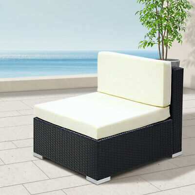 AU359.95 • Buy 2 Pcs Outdoor Sofa Garden Patio Rattan Wicker Chair Lounger Furniture Couch Set