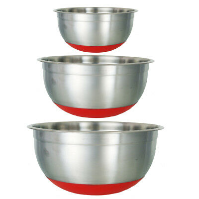 18cm Buckingham Stainless Steel Mixing Bowl With Black Silicon Base Premium   • 5.60£