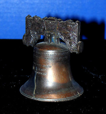 Vintage Copper Colored Metal Liberty Bell 3 1/2 Inch  • 9.99$