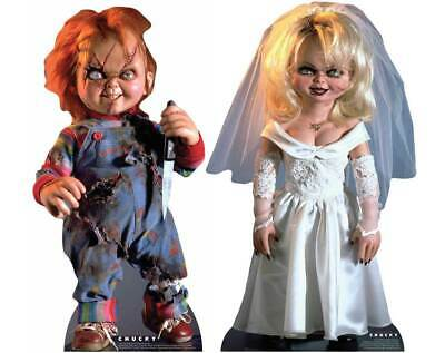 £34.99 • Buy Chucky And Tiffany Bride Of Chucky Official Lifesize Cardboard Cutout Set Of 2