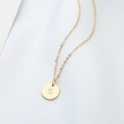 £3.99 • Buy Gold Girl Alphabet Letter Initial Friendship Bridesmaid Gift Chain Necklace UK