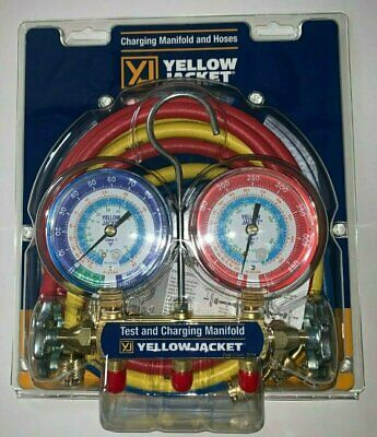 $111.99 • Buy Yellow Jacket 42006 Refrigeration Manifold With 60  Hoses, R-22 / 404a / 134a