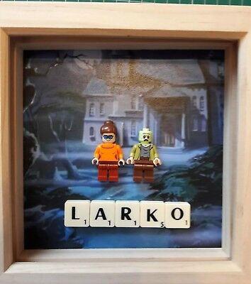 New Handmade Personalised Scooby Doo Mini Figure (fits Lego) Picture & Scrabble • 11.99£