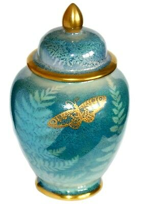 £44.99 • Buy Moorland Pottery ~ Plant & Tinsley ~ Lustre Ware Butterfly ~ Lidded Temple Jar