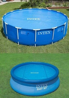 £14.99 • Buy INTEX SWIMMING POOL Solar Cover 8FT 10FT 12FT Heats Water Heat Clean DEBRIS Out