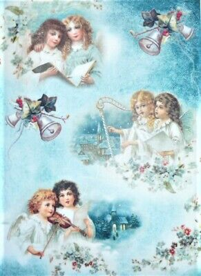 £1.89 • Buy Rice Paper Decoupage Scrapbook Craft Sheet Angels And Music Flowers 477
