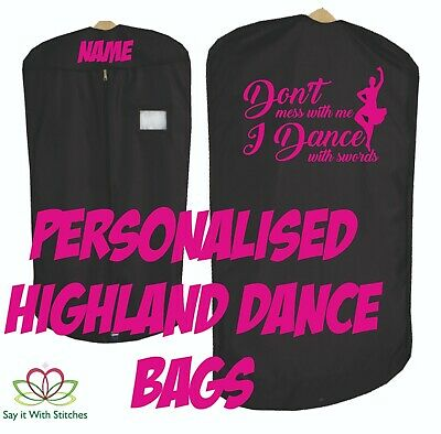 $20.49 • Buy Personalised Quality Costume Kilt Dress Highland Irish Scottish Dance Carry Bag