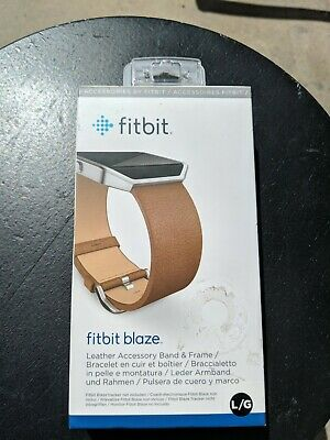$ CDN25 • Buy Fitbit Blaze Accessory Leather Band With Frame (Large) - Camel