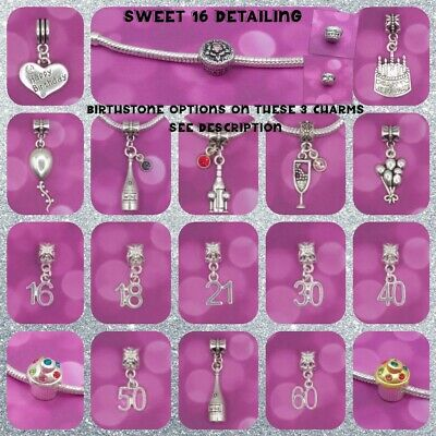 ❤ Birthday/Age Charms ❤ FOR CHARM BRACELETS ❤  • 1.49£